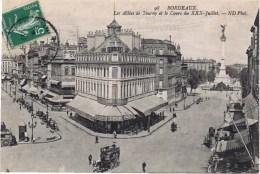 Cpa  BORDEAUX LES ALLEES DE  TOURNY ET LE COURS DU XXX JUILLET (enseigne Gobineau Etrs .... ) - Bordeaux