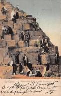 ¤¤  -   EGYPTE   -  LE CAIRE   -  Ascension De La Pyramide En 1906    -  ¤¤ - Cairo