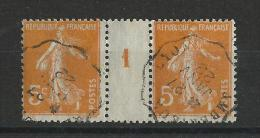 SEMEUSE - 1922 - OBLITERATION AMBULANT AMBERIEUX à LYON Sur PAIRE Avec MILLESIME - 1921-1960: Periodo Moderno