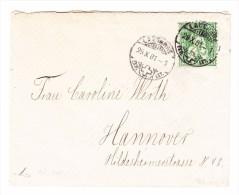 Lausanne 29.10.1881 25Rp Sitzende Helvetia Mi#41 Auf Brief Nach Hannover Befund Marchand - 1862-1881 Helvetia Assise (dentelés)