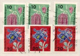 Deutschland 1963 Michel 392, 394 Je 3x Gestempelt. Flora Und Philatelie, SG 1306 + 08, Y&T 264 + 266, Scott 857 + 859 - Gebraucht