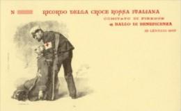 Firenze - Cartolina Riproduzione RICORDO CROCE ROSSA ITALIANA BALLO DI BENEFICENZA 29 Gennaio 1900 - PERFETTA M13 - Croix-Rouge