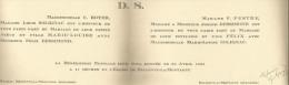 FAIRE PART DE MARIAGE 1935 à L'EGLISE DE BELLEVUE LA MONTAGNE (HAUTE LOIRE) - Boda