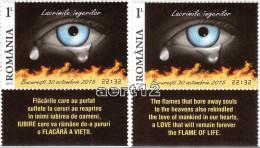 ROMANIA, 2015, ANGELS TEARS, Accidents, Fire, Health, Set Of 2 + Tab M1 + M2, MNH (**), LPMP 2085 - 1948-.... Repúblicas
