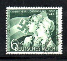 TERZO REICH 1943 ,  Hitlerjugend  Unificato N. 762  Usato - Germania