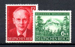 TERZO REICH 1943 ,  Rosegger Unificato N. 773/774  ***  MNH - Germania
