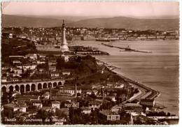 Trieste - Panorama Da Barcola Old Postcard Travelled 1939 Bb160202 - Trieste