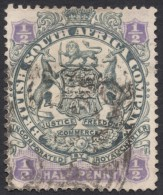Rhodesia, British South Africa Company, 1/2 P, 1896, Sc # 26, Mi # 25II, Used. - Great Britain (former Colonies & Protectorates)