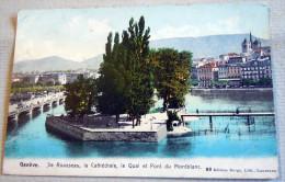 CPA-KP-PC- GENEVE ILE ROUSSEAU - GE Genève