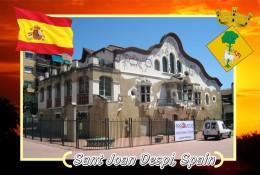 Postcard, Cities Of Europe Collection, Sant Joan Despí, Spain - Mapas
