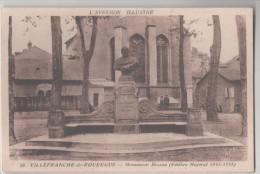 CP L´Aveyron Illustre Villefranche-de Rouergue MONUMENT FELIBRE MAJORAL (12 Aveyron) - Villefranche De Rouergue