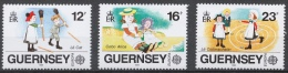 Guernsey 1989 Mi# 449-51** EUROPA CEPT, CHILDREN'S TOYS AND GAMES - Guernesey