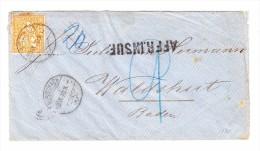 """Rorschach 8.9.1870 Sitzende 20Rp Auf Brief """"Affr.Insuf."""" Nach Walshut Deutschland - 1862-1881 Helvetia Assise (dentelés)"""