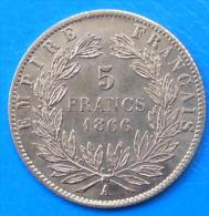 5 Francs Or Gold Napoléon III 1866 QUALITE !! - J. 5 Francs