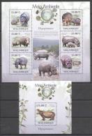 Mozambique 2010 - MNH - Hippo - Francobolli