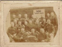 Photo Sur Carton Militaire 100 Demain Matin - Guerre, Militaire