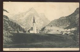 AUSTRIA SCHROCKEN BREGENZWALD OLD POSTCARD STAMP POST ABLAGE - Schröcken