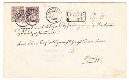 Schwyz 16.1.1882 Sitzende 5 Und 40Rp Faser Papier Chargé Brief Nach Lowerz - 1862-1881 Helvetia Assise (dentelés)