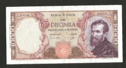 ITALIA - 10000 Lire MICHELANGELO (Firme: Carli / Ripa - Decr. 14/01/1964) - [ 2] 1946-… : Repubblica