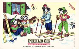 """Philbée  - Pain D'épices -  """"fournisseur Equipe De France  Ski De Fond """" Skieurs -  Sport - Format  13,5 X 21 Cm - Peperkoeken"""