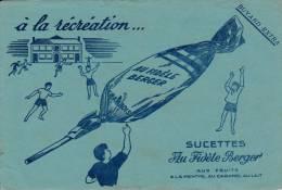 """Sucette  """"au Fidèle Berger """" - Format  13,5 X 21 Cm - Papel Secante"""