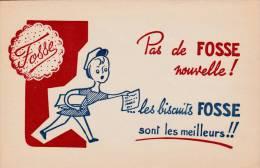 """Biscuits Fosse  - """" Pas De Fosse Nouvelle """" - Format  13,5 X 21 Cm - Papel Secante"""