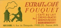 Café Fouquet  - Extrait De Café - Format  8,5 X 18,3 Cm - Caffè & Tè