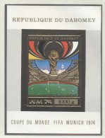 DAHOMEY Imperforated GOLD Block Mint Without Hinge - 1974 – West Germany