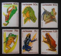 GRENOUILLES 1981 - NEUFS ** - YT 823/25 + PA 88/90- MI 948/53 - Surinam