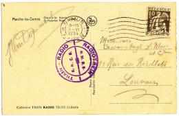 """1934 ZICHTKAART""""MARCHE..zie Beschrijjv."""" MET PZ 337 VAN NAMUR NAAR LOUVAIN MET !RADIOTREIN! ZIE SCAN(S) - 1932 Cérès Et Mercure"""