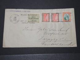 GUATEMALA - Env Pour L'Allemagne Via Puerto Barrios Et New York - Avec Vignette Croix Rouge Au Dos  - Juil 1936 - P16155 - Guatemala