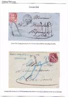 Lot Von 2 Briefe 1867 / 1881 Mit Je 10Rp. Sitzende Jeder Im Ausland Taxiert - Lettres & Documents