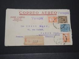 PEROU - Env Par Avion (par La Panagra) Et Recommanée Pour La Chase Bank à Paris Avec Transit Par NY - Nov 1931- P16156 - Pérou