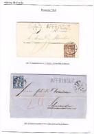 Lot Von 2 Briefe 1864.11.14 Delemont Nach Moutier Und 1867.1.23 Lachen Nach Schwanden Mit 10 Und 20Rp Taxiert - Oblitérés