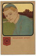 Art Nouveau Radfahr Sport Meissner Et Buch Kunstler No 1070 Deutscher Sport - Ciclismo