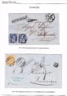 Lot Von 2 Briefe 1863.11.18 Und 1868.8.12 Genève Mit 20Rp Oder 2x10Rp Sitzende Beide In Frankreich Taxiert - 1862-1881 Helvetia Assise (dentelés)