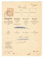 Zürich 24.1.1881 Sitzende Helvetia 20Rp Auf Rückschein Nach Neumünster - 1862-1881 Helvetia Assise (dentelés)