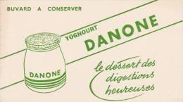 "Danone - ""le Dessert Des Digestions Heureuses"" - Format 12 X 21 Cm - Lattiero-caseario"