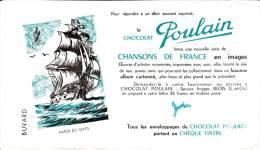 """Chocolat Poulain  """" Chanson De France  """"Hardi Les Gars"""" Format  12,5 X 22 Cm - Chocolat"""
