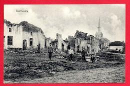 55. Bantheville. Soldats Allemands Dans Les Ruines. Eglise St. Rémy . Feldpost Der 27. Infanterie Div. Juin 1915 - Altri Comuni