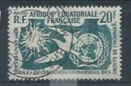 """AEF : Y&T (o) N°245 """" Déclaration Des Droits De L'homme """" - A.E.F. (1936-1958)"""
