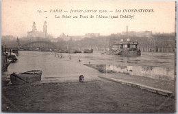 75 PARIS -- CRUE 1910 - La Seine Au Pont De L'alma (quai Debilly) - Inondations De 1910