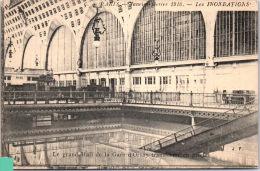 75 PARIS -- CRUE 1910 - Le Grand Hall De La Gare D'orsay. - Inondations De 1910