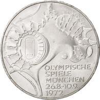 GERMANY - FEDERAL REPUBLIC, 10 Mark, 1972, Munich, KM:133, SPL, Silver - [ 7] 1949-…: BRD