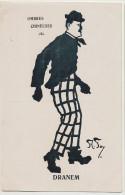 Dranem Né Rue Chateau Landon Paris 10 Artiste Café Concert Caricature Par A. Foy Ombres Chinoises - Kabarett