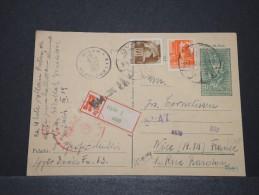 HONGRIE - Entier Recommandée Avec Double Censure All Et Hongroise Et Avec Compl. D'Affr. Pour Nice - Mars 1944 - P16162 - Marcophilie