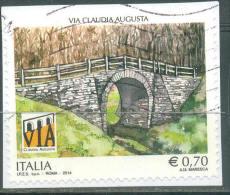 Italia Repubblica Usati - B134)  2014 Patrimonio Artistico Via Claudia Augusta  Prima Scelta - 6. 1946-.. Republik