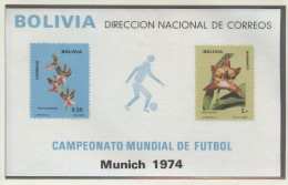 BOLIVIA Block Mint Without Hinge - Coppa Del Mondo