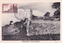 France N°1042 - Carte Maximum - Brouage - Cartes-Maximum
