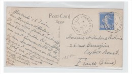 FRANCE--POSTE MARITIME-- 1929 -- MARSEILLE A YOKOHAMA -- CARTE POSTALE DE PORT SAÏD -- - Marcophilie (Lettres)